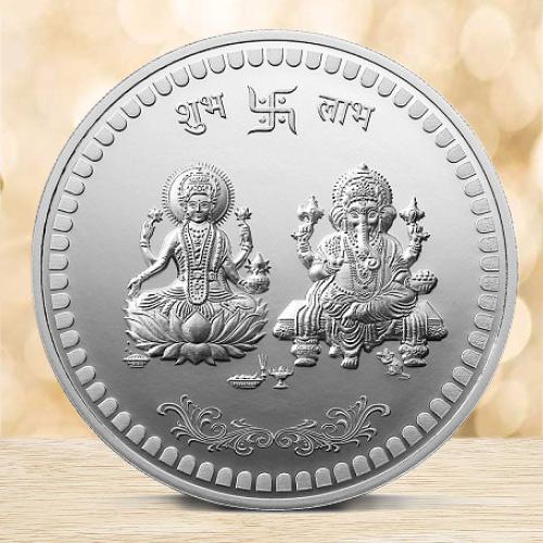 Pure Lakshmi Ganesh Silver Coin