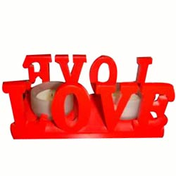 Love Candle Stand Gift with 2 Candles