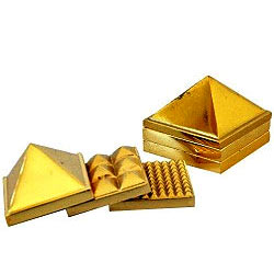 Attractive Lucky Brass Metallic Pyramid