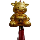Gold Plated Feng Shui Happy Rabbit