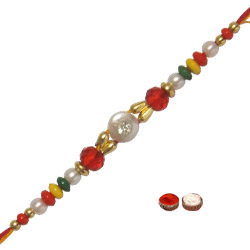 Designer One Colourful Beads Rakhi