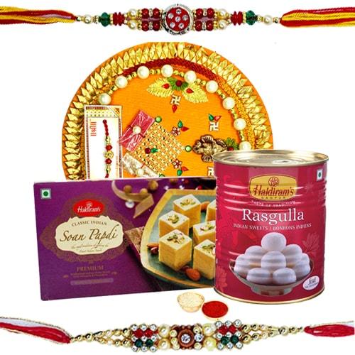Thali Hamper N <font color=#FF0000>Haldiram</font>s Sweets