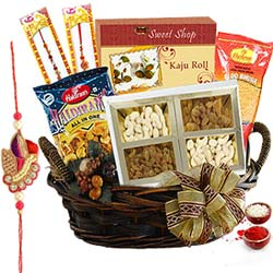 Auspicious Rakhi Basket of Savory Delights