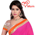 Admirable Blush Pink Georgette Saree