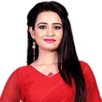 Attractive Red N White Designer Sari in Marble Chiffon Fabric