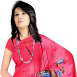 Impressive Desi Collection of Georgette Printed Suredeal Saree