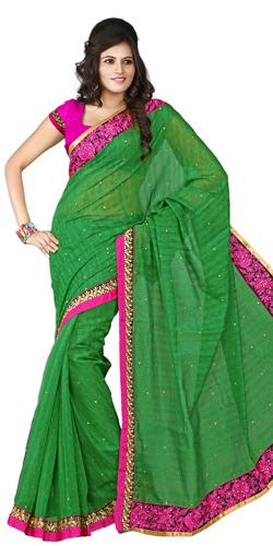 Sparkling Zing Silk Saree