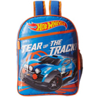 Outstanding Blue N Orange Hot Wheels School Bag