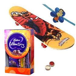 Charismatic Spider-Man Skate Board with Chocolates