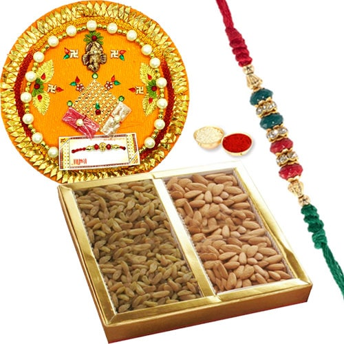 Rakhi Thali with Dry Fruits