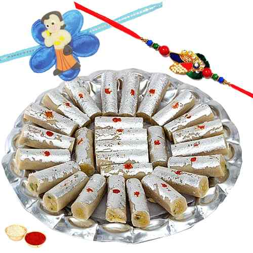 Magnificent Duple Love Rakhi Combo Set