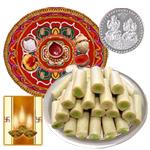 Diwali Thali with Kaju Roll