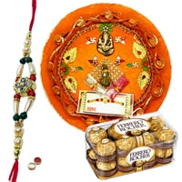 Spectacular Rakhi Gifts with Cheerful Wishes