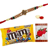 Yummy Chocolates with One or More Designer Ethnic Rakhi