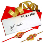 Pizza Hut Voucher Worth Rs. 800 with 2 Rakhis and Roli Tilak Chawal