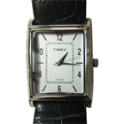 Fashionable Silver Coloured Rectangular Dialed Gents Watch Manufactured by Timex
