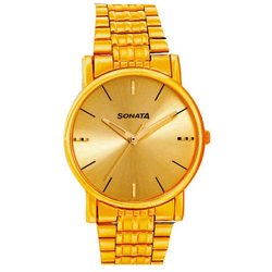 Radiant Golden Coloured Gents Watch from Sonata