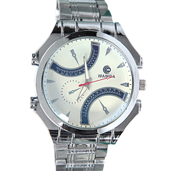 Showy Silver Wrist Watch for Mens