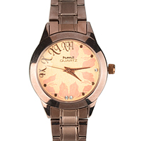 A Wonderful Rose Gold Colour Stones Studded Womens Watch