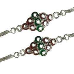 Holy Tie of Designer Silver Plated Rakhi