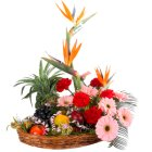 Deliver Online Flowers N Fruits Basket Online